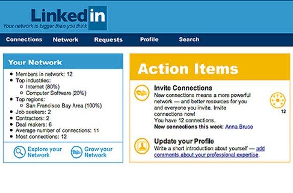 LinkedIn design at launch