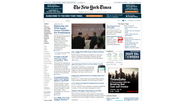 NY Times design now