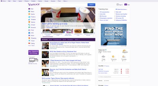 Yahoo design now