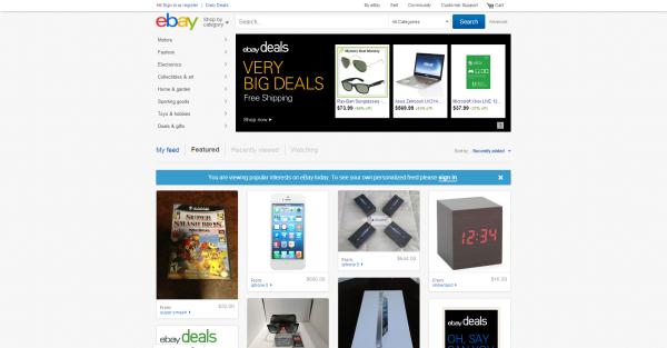 eBay design now