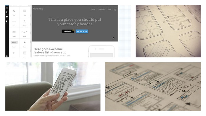 UXPin - different types of wireframes