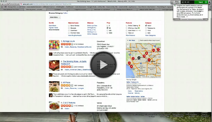 User Testing & Design: Qualitative Analysis of Yelp's Website