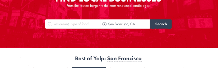 Usability Testing & Design: New Yelp Design