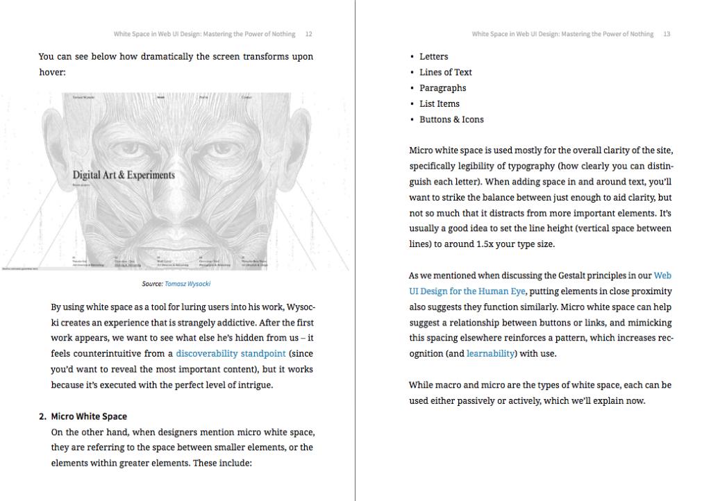 White Space in Web UI Design