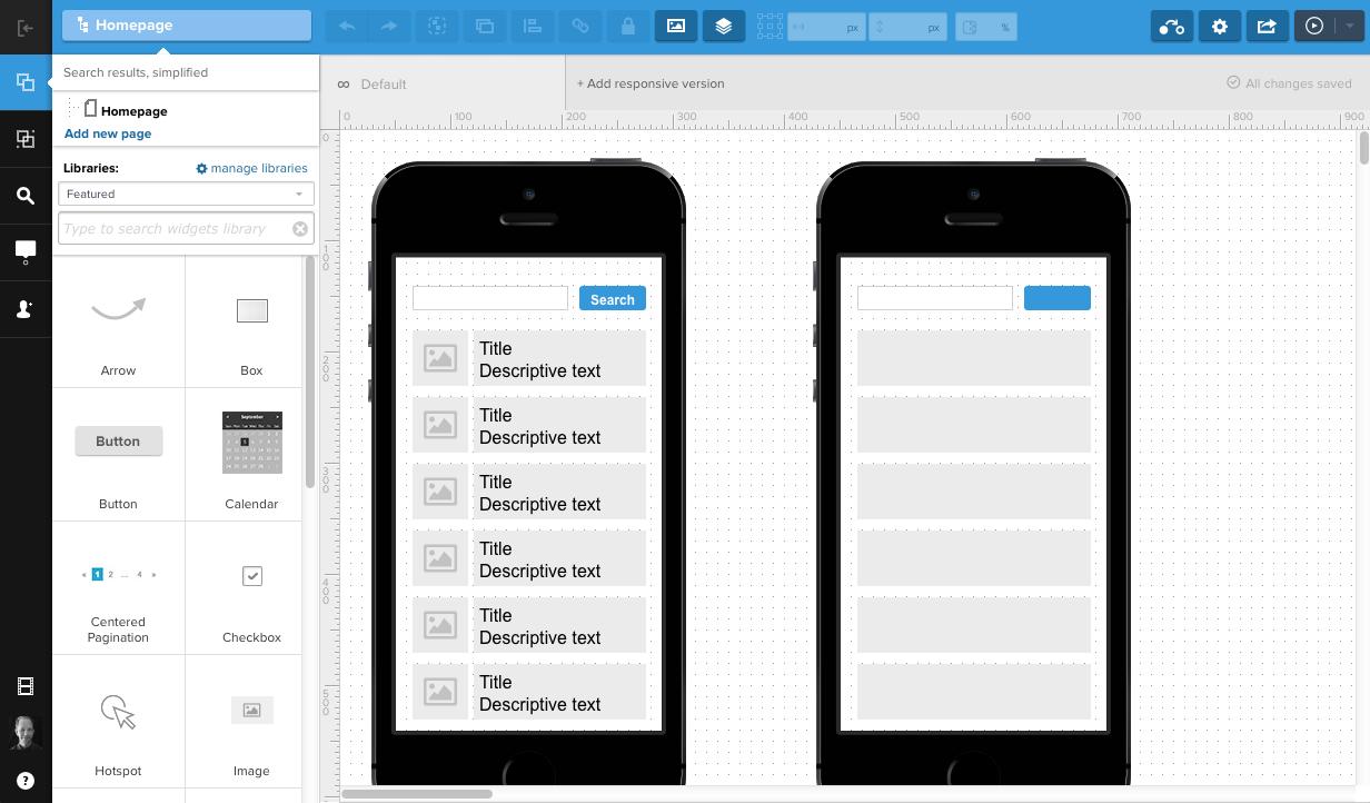 UXPin app screenshot 1