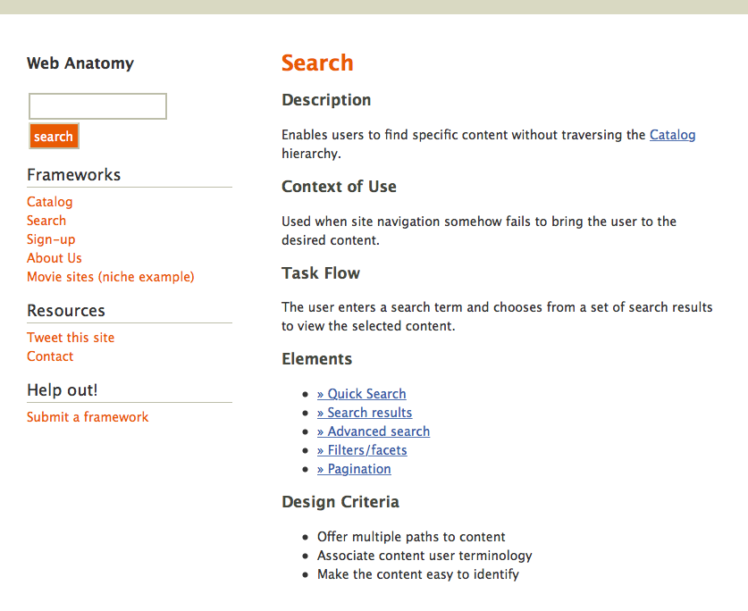 A complicated search form with instructions. Also the term 'search' with defitions and related links.