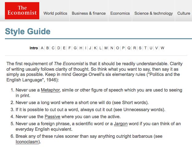 Economist style guide
