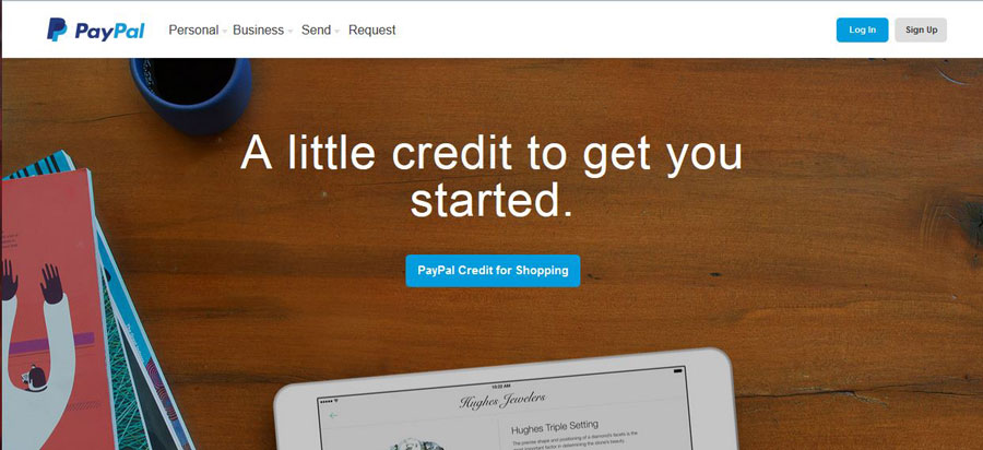 Screenshot of a wide image at Paypal's website