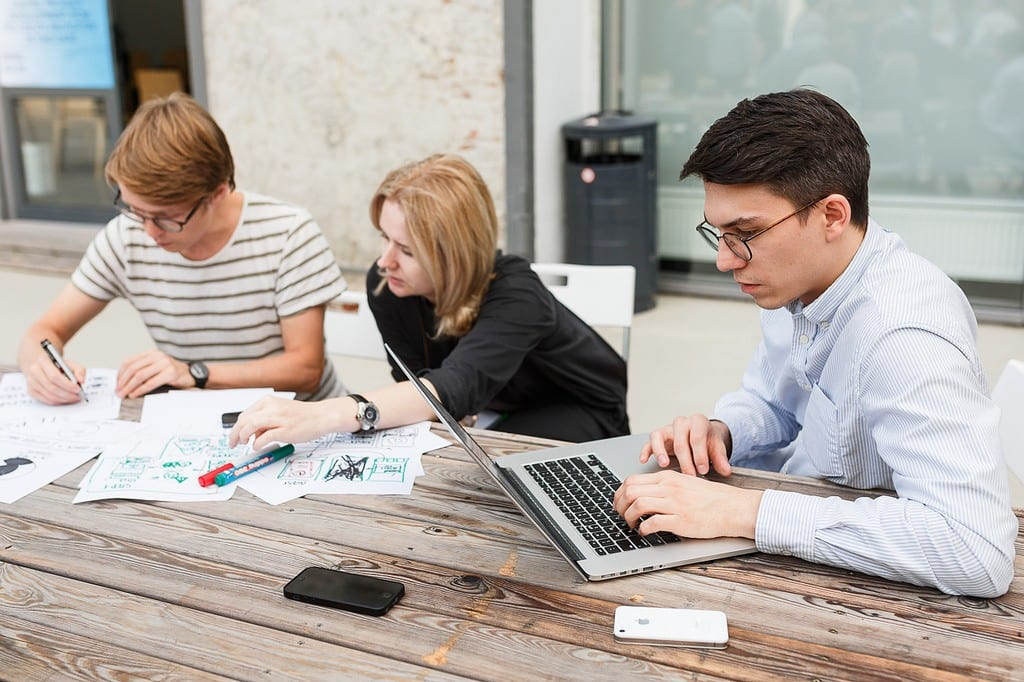 Photo of designers working