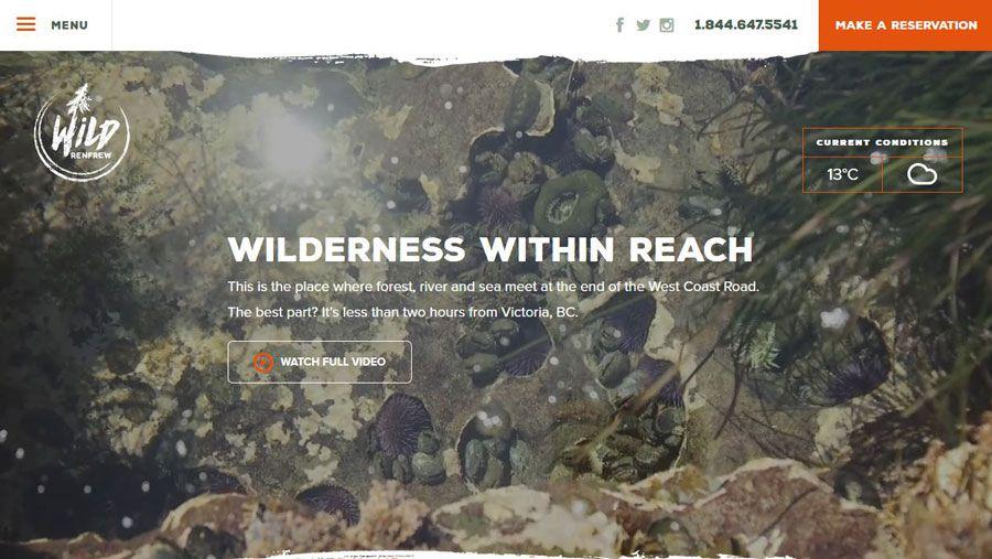Screenshot of Wild Renfrew's website