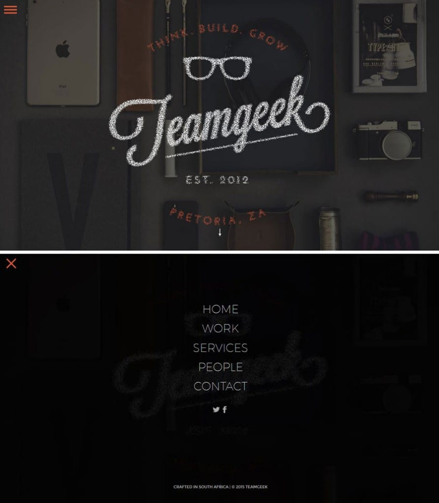 Screenshot of Team Geek's website