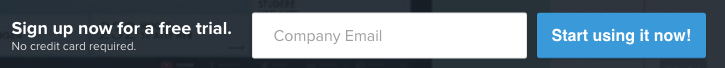 Screenshot of UXPin's signup form