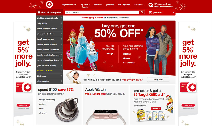 Don 39 t overdo web design trends on your e commerce site for Design on line outlet