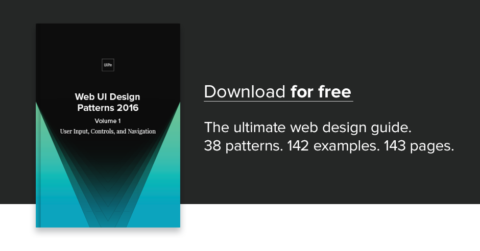 Free e-book: Web UI Design Patterns 2016 (Vol  1)
