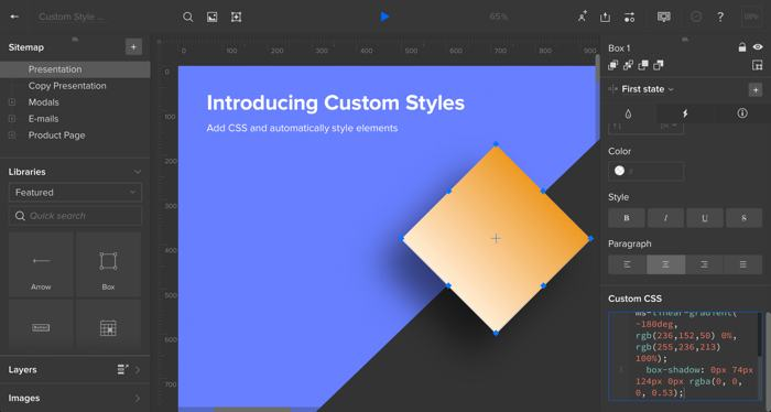 Custom Styles: Use CSS to style Elements in UXPin