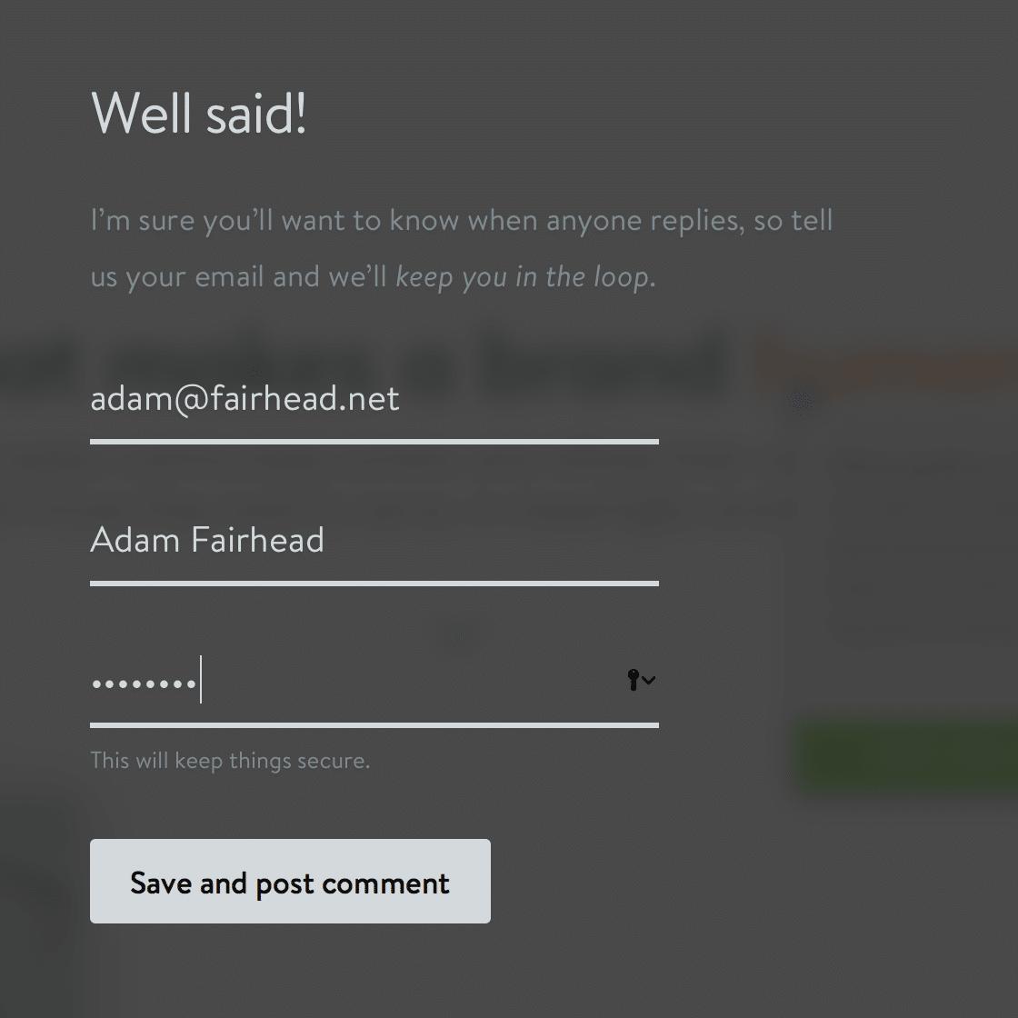 RedPen signup form