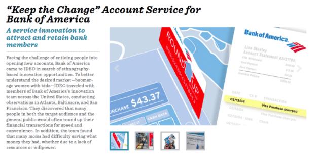 keep the change account service
