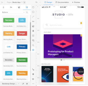 Redesigned Design System Libraries panel in UXPin