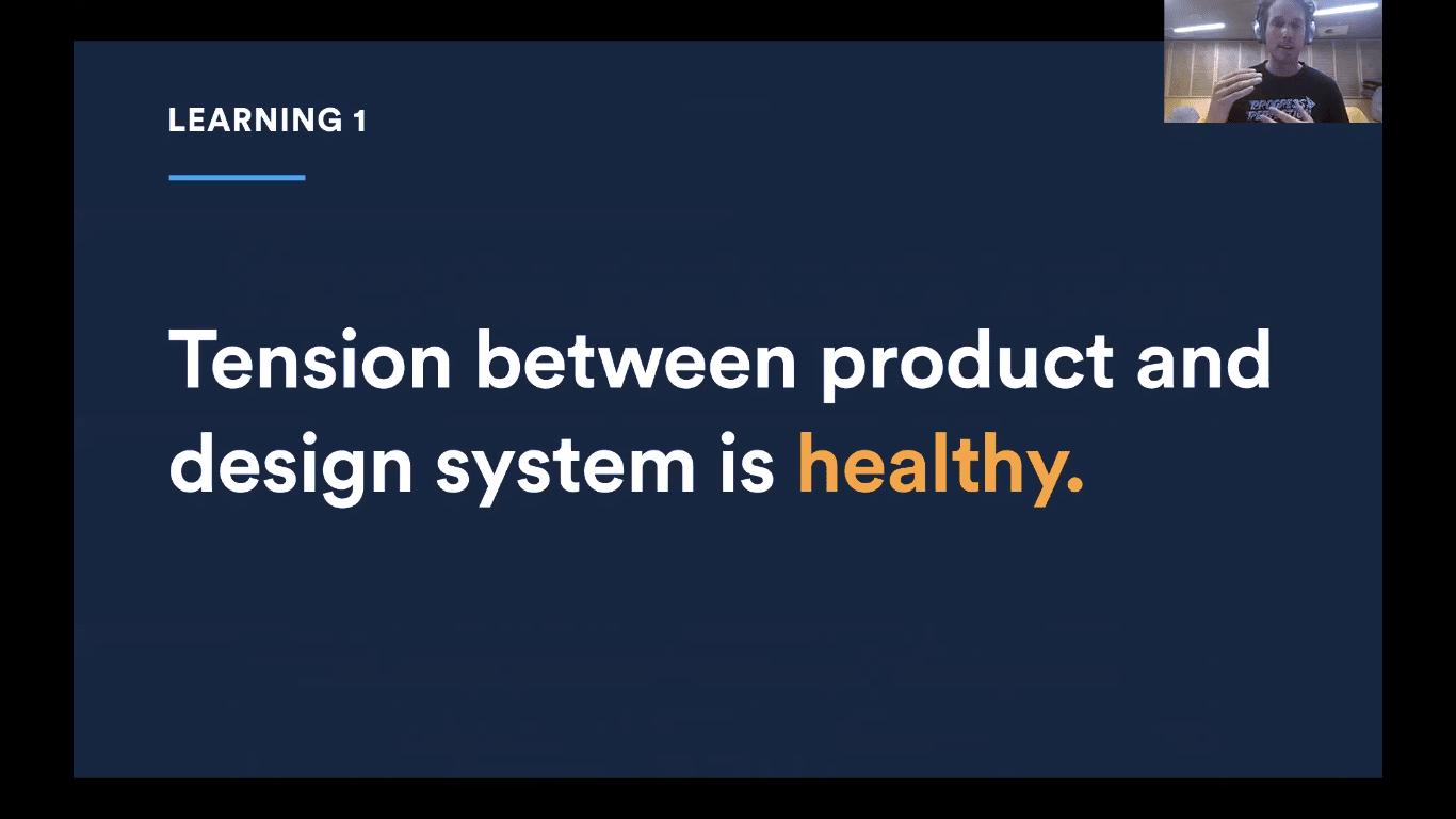 Tension between product and design system is healthy