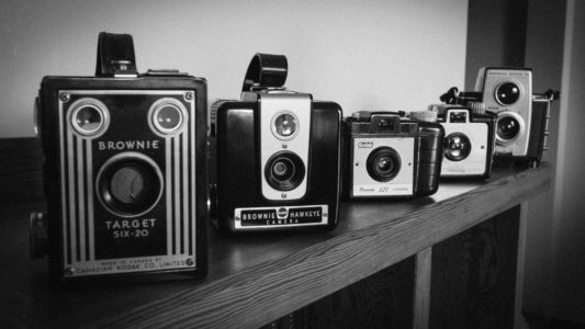 Brownie Cameras - top retro design