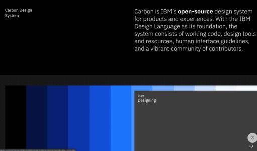 IBM carbon design system