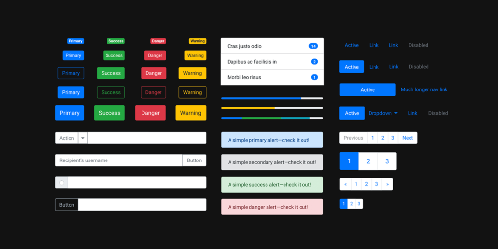Bootstrap UI Kit in UXPin