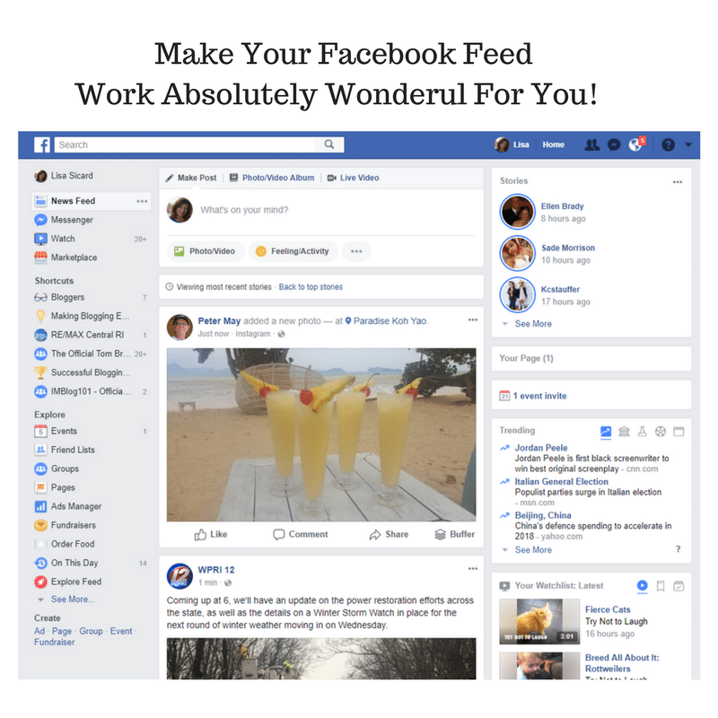 Facebook feed example - UXPin Studio