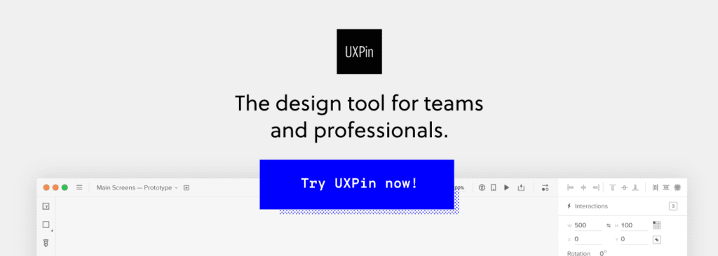 Sign up for UXPin
